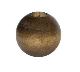 Round Wood Beads 32mm 2//Pkg-Walnut