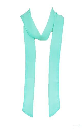 Aqua Scarf - Solid color, Summer skinny scarf (AQUA)