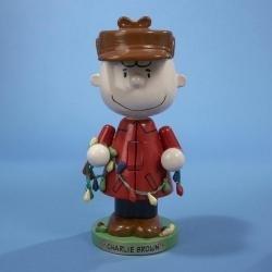 "9.75"" Peanuts Charlie Brown with Lights Decorative Christmas Nutcracker"