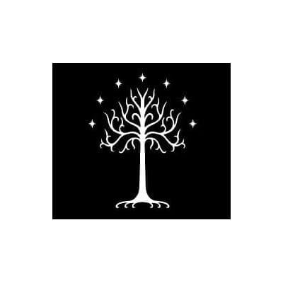Tree Of Gondor LOTR Decal Vinyl Sticker|Cars Trucks Vans Walls Laptop| White |5.5 x 4.5 in|LLI171: Automotive