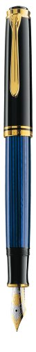 Pelikan Premium M800 Fountain Pen B Plume Noir/Bleu for sale  Delivered anywhere in USA