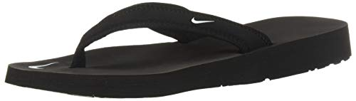 NIKE WOMENS CELSO GIRL THONG PLS SANDALS BLACK WHITE SIZE 12