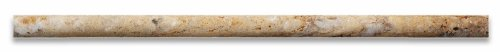 Scabos Travertine Honed 1/2 X 12 Pencil Liner Trim Molding - Box of 5 pcs.