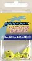 Hurricane Saltwater Jig Head, 1/8-Ounce, Chartreuse