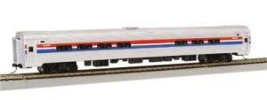 Bachmann Industries Inc. Amtrak Budd Passenger Car 85' Amfleet I Phase II Amtrak Cafe (Lighted Interior) - N (Amtrak Cafe Car)