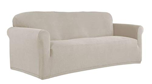 Perfect Fit NeverWet Luxury Sofa Slipcover in Putty