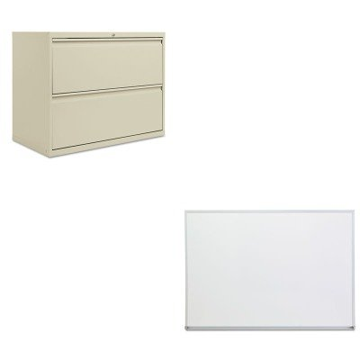 KITALELF3629PYUNV43624 - Value Kit - Best Two-Drawer Lateral File Cabinet (ALELF3629PY) and Universal Dry Erase Board (UNV43624) by Best