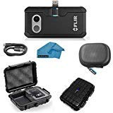 FLIR ONE Pro LT Thermal Imaging Camera for Apple iOS ONLY Bundle with Rugged Waterproof Case and Cleaning Cloth (NOT Android)