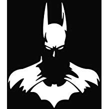 Chase Grace Studio Superhero Dark Knight Vinyl Decal Sticker|White|Cars Trucks SUVs Vans Laptops Walls|5.5