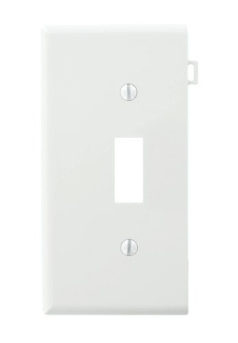 Leviton PSE1-W Sectional Thermoplastic Nylon Device Mount End Panel 1-Gang Toggle Device Switch Wallplate, White