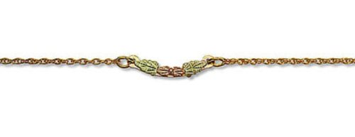 Landstroms 12/20 Gold-Filled Ankle Bracelet with 12k Black Hills Gold Leaves - G LQ7268A