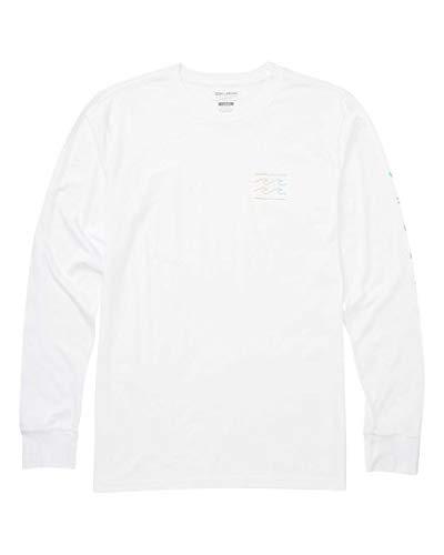 Billabong Men's Long T-Shirts, Unity Sleeves LS White S
