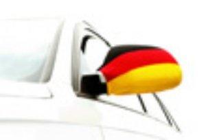 Cepewa - Auto Außenspiegel-Fahne 2 er Set