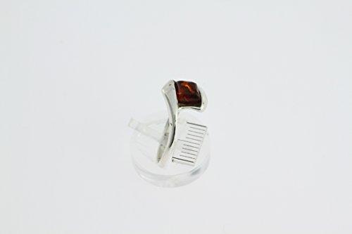 Bague en Ambre 26-05 - Bijoux en argent rhodié et Ambre - Toutes tailles et diverses pierres - ARTIPOL