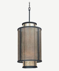 Troy Lighting F3104 Copper Mountain - Eight Light Pendant, Copper Mountain Bronze Finish with Silver Mica Glass (Troy Pendant Copper)