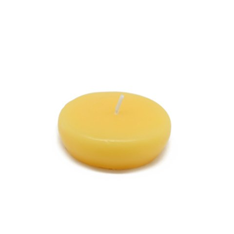 Zest Candle CFZ-027_12 288-Piece Floating Candle, 2.25'', Yellow