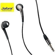 Jabra Rhythm 3.5mm Cellphone Stereo Headset with Mic Black and Silver