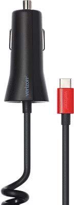 Verizon OEM 6ft. 5V/3A Fast Charge Coil Type-C USB Car Charger Black for Samsung HTC LG Motorola