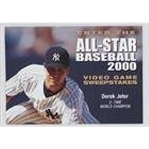 Derek Jeter (Baseball Card) 1999 Skybox Thunder - Acclaim Sports All-Star Baseball 2000 Sweepstakes Entry #DEJE