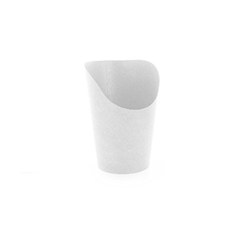 PacknWood Wrap or French Fry Cardboard Cup, 5.5 oz Capacity, 4.72'' Height, 3.14'' Diameter, White (Case of 1200) by PacknWood