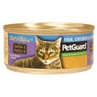Pet Guard Fish Chicken and Liver Dinner Canned Cat Food, 5.5 Ounce -- 24 per case.
