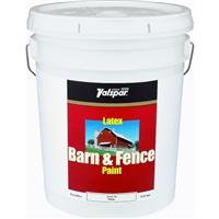 Valspar 3125-70 Barn and Fence Latex Paint, 5-Gallon, White