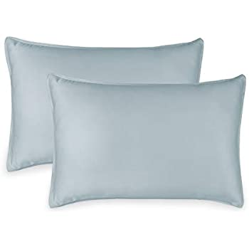 Pure Bamboo 2pc King Pillowcase Set - 100% Bamboo Luxuriously Soft Bed Sheets (2 King Pillowcases, Sterling Blue)