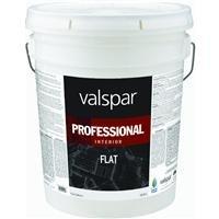Valspar 11600 Flat Interior Professional Series Paint, 5 gallon, White
