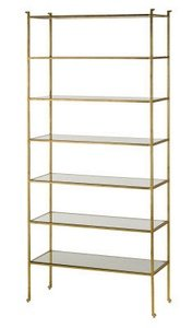 """Currey and Company 4132 Delano - 41"""" Tall Etagere, Gold Leaf"""