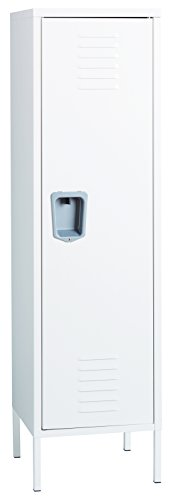 (Office Dimensions Personal Locker Storage Cabinet, White)