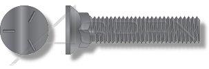 Full Thread Grade 5 Steel 3 Head 400 pcs Plain Flat Head Plow Bolts 3//8-16 X 2