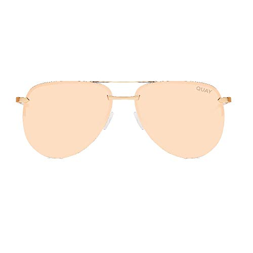 Quay Women's The Playa Sunglasses, Gold/Pink, One Size