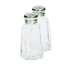 Adcraft Shaker - Adcraft Mushroom Top Salt/Pepper Shakers, Glass/Stainless Steel,2oz,3 1/2