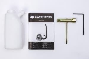 TIMBERPRO 5 en 1 Motosierra - Desbrozadora - Cortasetos gasolina 52 cm³, 3,0 cv de potencia