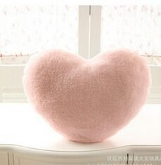 Missley Colorful Soft Sweet Love Heart Shaped Pillow Nap Pillow Fluffy Throw Pillows Back Cushion for Lover Kids - Heart Shaped Pillow