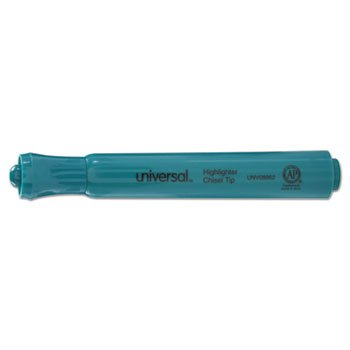 Universal Office Products Desk Highlighter, Chisel Tip, Fluorescent Green, Dozen by Universal Office Products (Image #2)