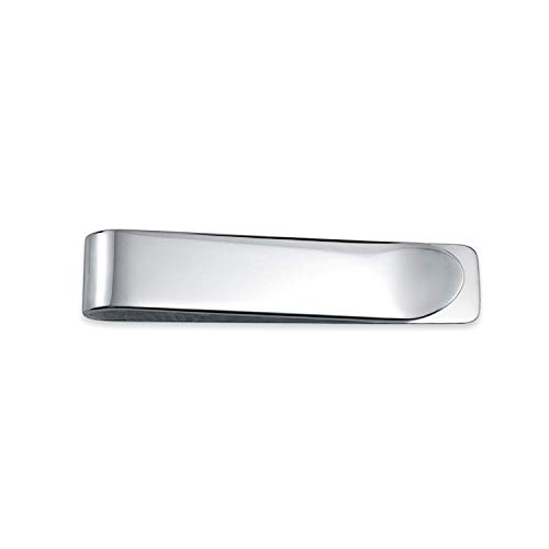 Basic Slim Money Clip For Men Plain Engravable Credit Card Polished 925 Sterling Silver