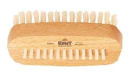 Kent NB3 Nail Brush With A Row Of Bristles On Back, Made Of Beech Wood