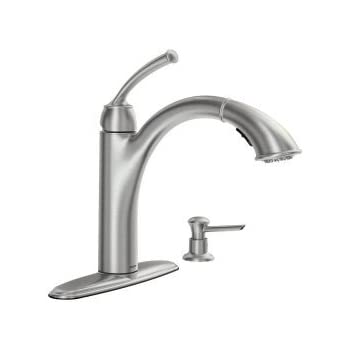 Moen 87047brb One Handle Pullout Kitchen Faucet Mediterranean Bronze