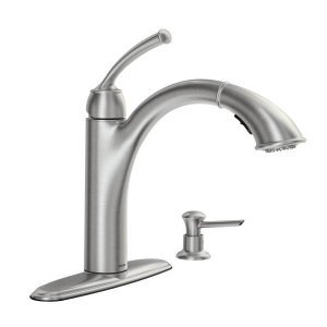 Moen 87047SRS Pullout Spray High-Arc Kitchen Faucet with Soap Dispenser from the Sullivan Collection, Spot Resist Stainless - Moen Kitchen Faucet Spray Head