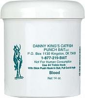Danny King Catfish Punch Bait, 14-Ounce, Blood