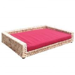Jet-Line Animales sofá Animales cesta 60 x 45 x 15 cm Rojo cesta trenzada (cama para perros Perros y Gatos Cesta: Amazon.es: Productos para mascotas