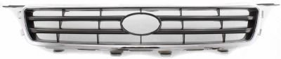 evan-fischer-eva17772052300-grille-assembly-grill-plastic-shell-and-insert-chrome-with-silver-black