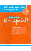 ¡En Español!: Actividades Para Todos (Workbook) With Lesson Review Bookmarks Level 2 (Spanish Edition)