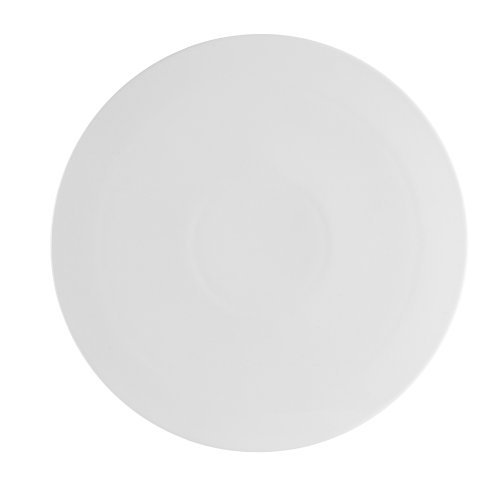 CAC China PP-3 Porcelain Round Flat Pizza Plate, 10-1/2-Inch, Super White, Box of 12 by CAC China