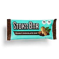 Stoka Bars- Peanut Chocolate Chip | All Natural- Low Carb Energy Bar | 3g Net Carbs | 8g Protein | Keto Friendly | Packaging May Vary | 8 Count