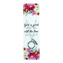 US Gifts God is Good All The Time Ring Pendant - 6/pk