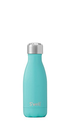 S'well Vacuum Insulated Stainless Steel Water Bottle, 9 oz, Turquoise Blue