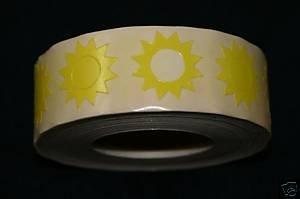 Rollo de etiquetas engomadas Sunburst bronceado 1000 CT