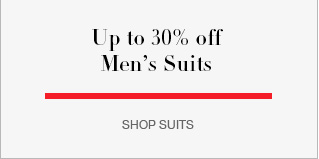 Up to 30% off men's suits